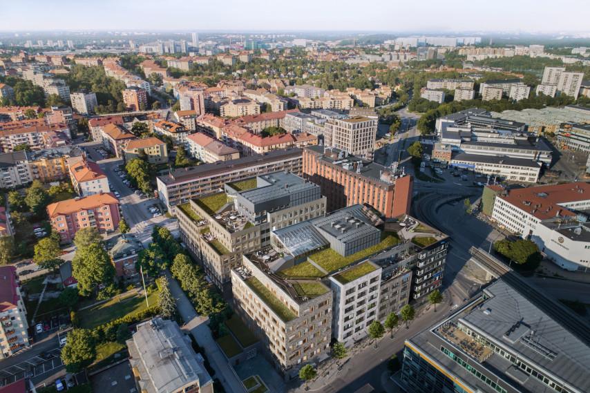 Kvarteret Kronan, visionsbild ©Reflex arkitekter. Beställare: Vasakronan